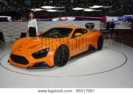 Zenvo St1 Supercar At The Geneva Motor Show