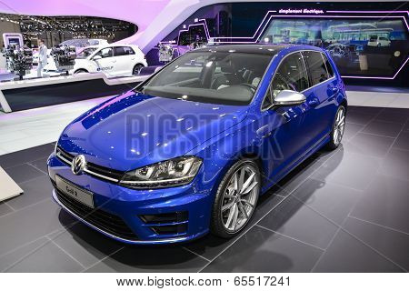 Volkswagen Golf R At The Geneva Motor Show