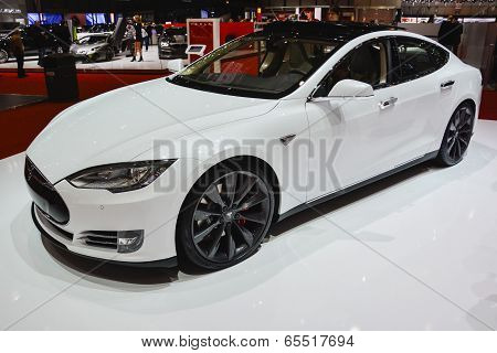 Tesla Model S At The Geneva Motor Show