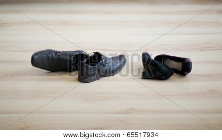 Black womens and mens shoes