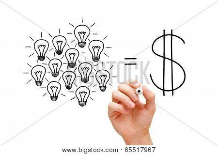 Teamwork Light Bulbs Success Concept
