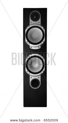 Isolated Photo Of Hi-end Wooden Acoustic Sistem