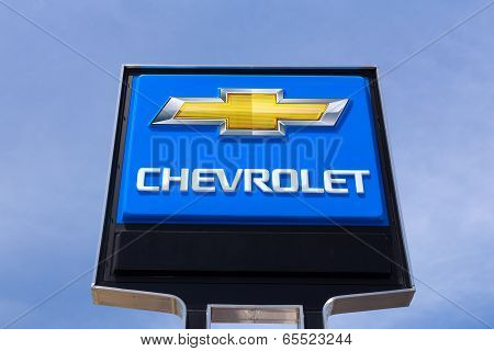 Chevrolet Automobile Dealership Sign