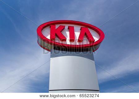 Kia Autombile Dealership Sign