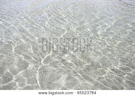 Transparent clean sea water