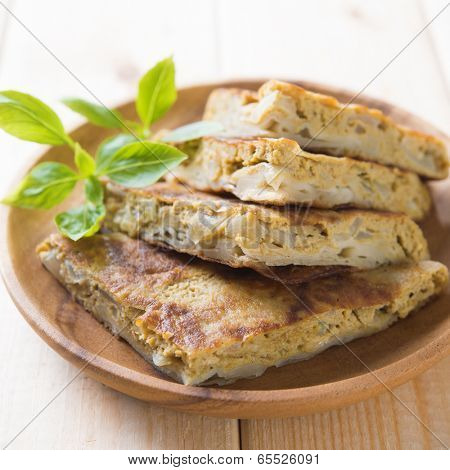 Malaysian food murtabak usually sold in Indian Muslim restaurants and stalls , stuffed with minced mutton, garlic, egg and onion, and is eaten with curry gravy.