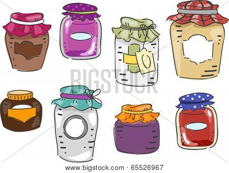 Illustration Featuring Different Elements Associated with Canning