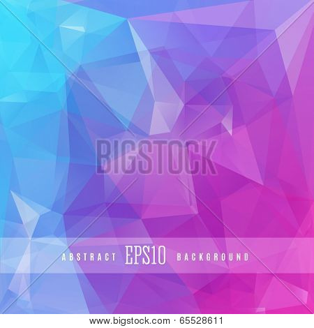 Pink blue triangle colorful abstract design background template
