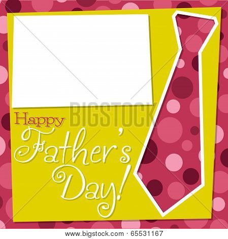 Father's Day Cut Out Tie Card In Vector Format.