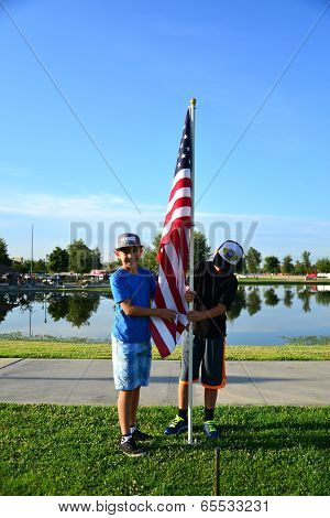 Boys with Flag