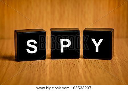 Crime Spy Word On Black Block