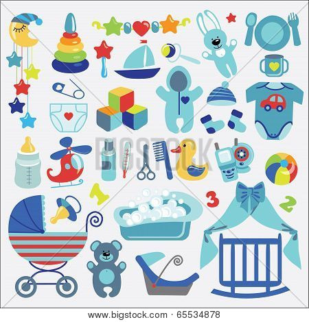 Newborn Baby-boyl Items Set Collection.baby Shower