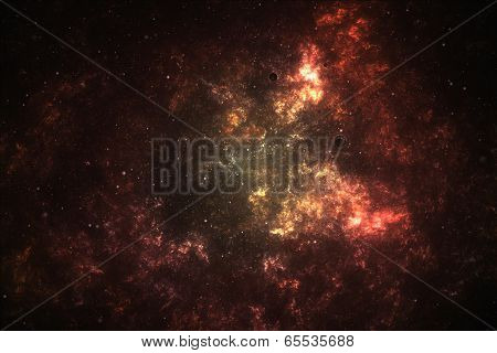 Deep space nebula.