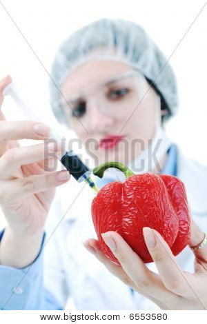Doctor With Red Pepper