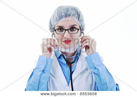 Isolated Adult Woman Nurse