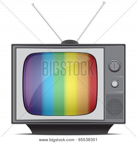 Classic Tv Colorful No Signal Background
