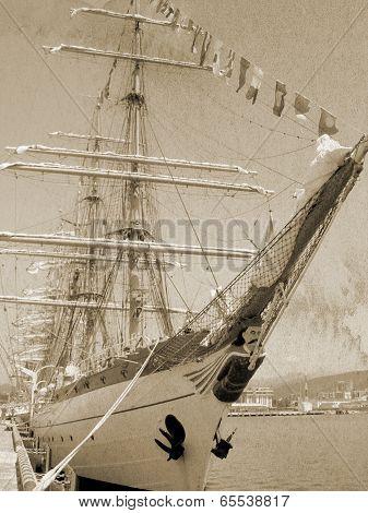 Sailship vintage style.