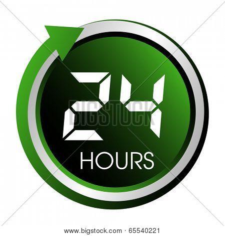 Twenty four hours green button.