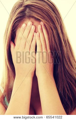 Teenage beautiful woman with depression