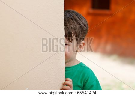 Little Boy Hide And Seek