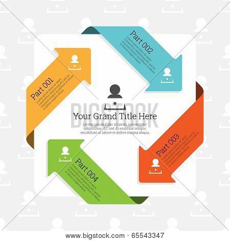 Four Continuous Arrow Infographic