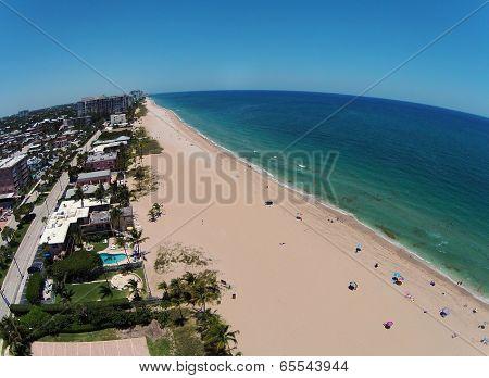 Sandy Florida Beach Aerial View
