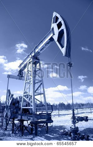 Pump Jack And Wellhead.