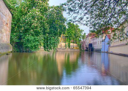 Kampa park and Vltava river