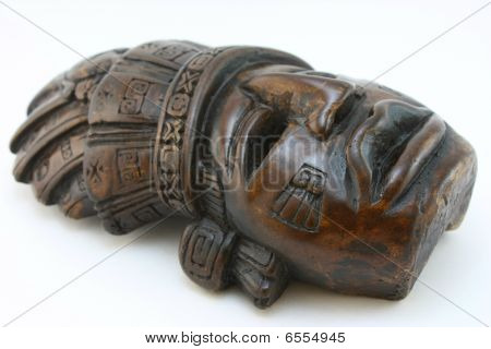 Mayan carved mask