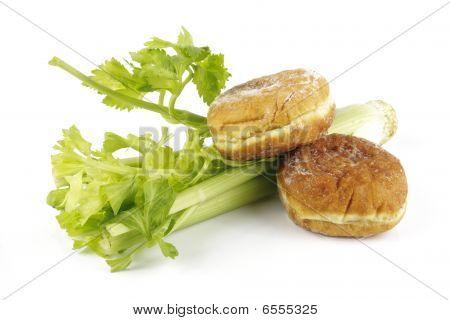 Celery And Jam Doughnut