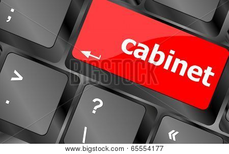 Cabinet Word On Computer Pc Keyboard Key