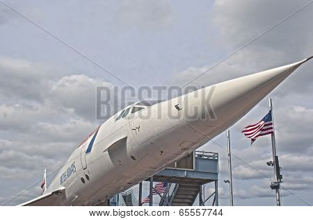 New York,usa - October 9: Supersonic Passenger Airplane Concorde On Display As A Tourist Attraction