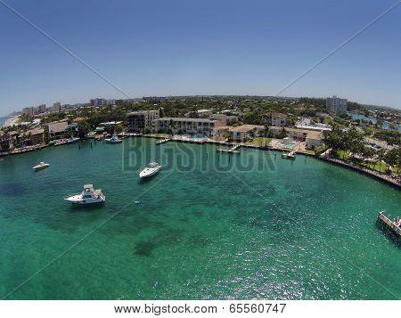 Pompano Beach, Florida Aerial View Of Coastline