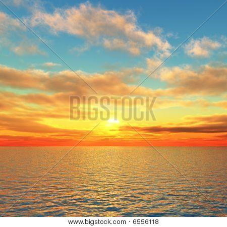 Schönen Sonnenuntergang