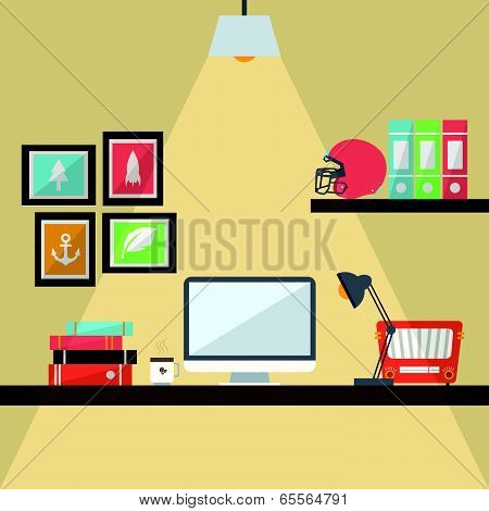 Workstation Flat Design