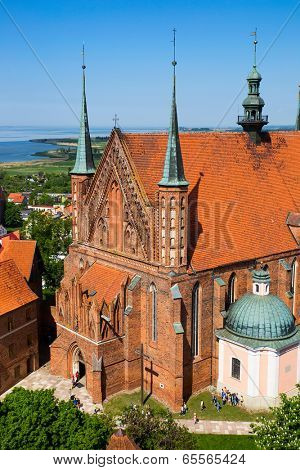 Frombork Cathedral, famous church in Poland, Europe.