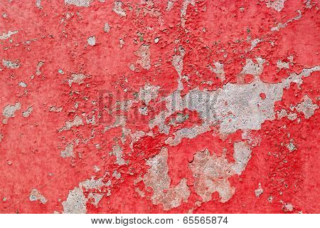 Old Red Paint Background Texture