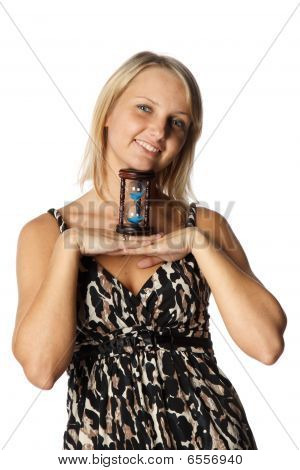 Businesswoman With Hourglass
