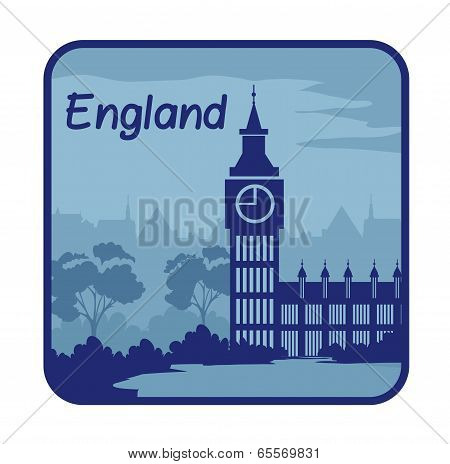 Illustration with Big Ben in London