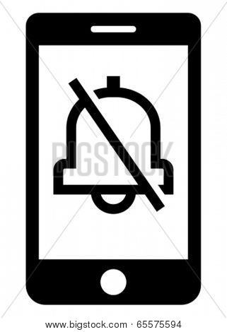 Turn off phone ringer icon
