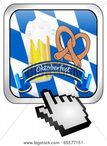 oktoberfest button with cursor