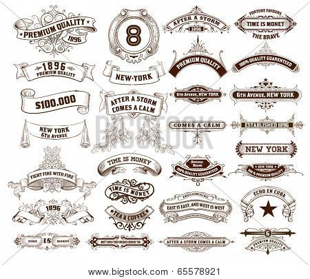 29 Labels and banners. Vector