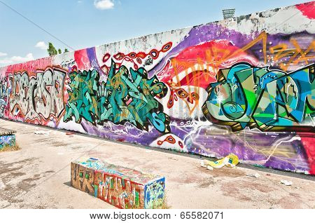 graffiti on Mauerpark wall in Berlin