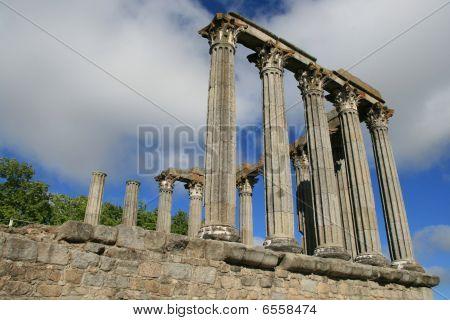 Roman ruins in Evora, Portugal