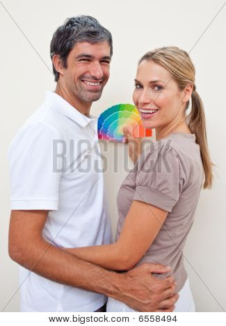 Lovers With Color Samples To Paint