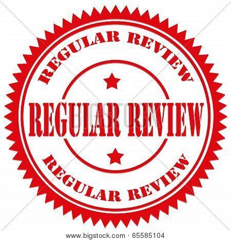 Regular Review-stamp