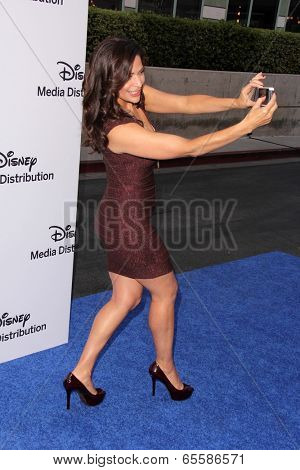 LOS ANGELES - MAY 19:  Constance Marie at the Disney Media Networks International Upfronts at Walt Disney Studios on May 19, 2013 in Burbank, CA