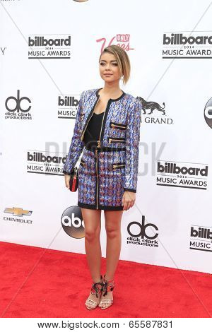 LAS VEGAS - MAY 18:  Sarah Hyland at the 2014 Billboard Awards at MGM Grand Garden Arena on May 18, 2014 in Las Vegas, NV
