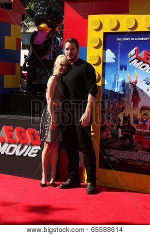 LOS ANGELES - FEB 1:  Anna Faris, Chris Pratt at the