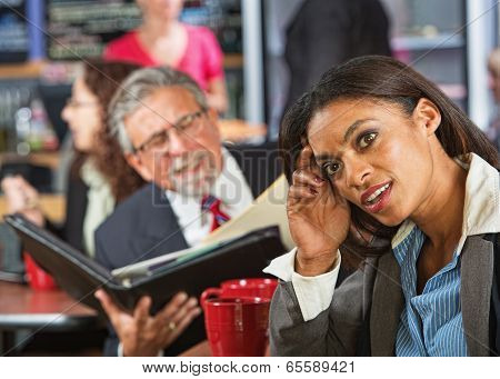 Woman Ignoring Business Man